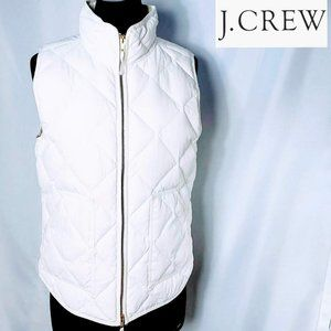 J Crew Wmn Quilted Puffer Vest White M